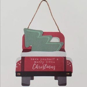 Decocrated Merry Little Christmas Truck Tree Snow